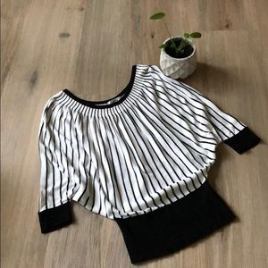 Black and white top from One Six - size small